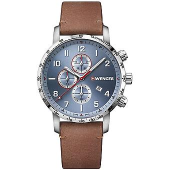 ヴェンゲル - 腕時計 - ユニセックス - アティチュード - 01.1543.114 - ブルー, 44 mm