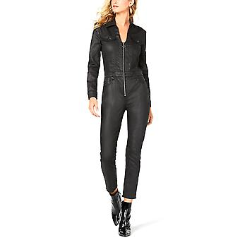 Guess | Harrie Faux-Leather Zippered Jumpsuit
