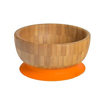 Tiny Dining Children's Bamboo Cereal / Dessert Bowl with Stay Put Suction - Orange