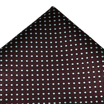 Ties Planet Claret & Blue Polka Dot Pocket Square Handkerchief