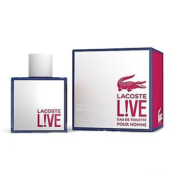 Na żywo Lacoste Pour Homme przez Lacoste dla mężczyzn 3,3 uncji Eau De Parfum Spray