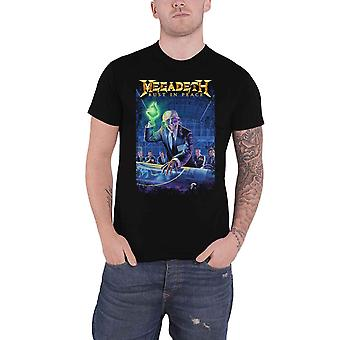 Megadeth T Shirt Rust In Peace 30th Anniversary Band Logo new Official Black