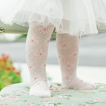 Baby Tights Cotton Cute Flower, Pantyhose - Summer Spring Tights For Baby Girls