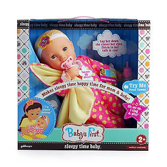 Baby-apos;s First Sleepy Time Baby Doll