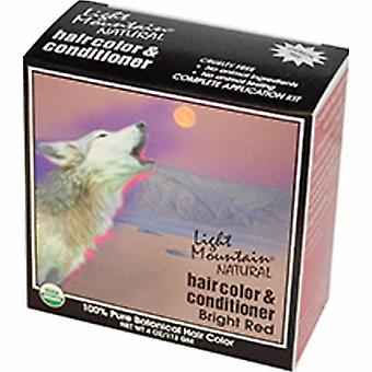 Light Mountain Natural Hair Color & Conditioner, Bright-Red 4 Oz