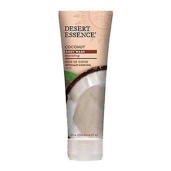 Desert Essence Coconut Body Wash, 8 Oz