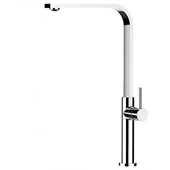 Kitchen Single-lever Sink Mixer With High Swivel Flat Spout - 48