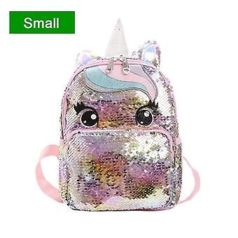 Cartoon Cute Backpack, Sequins Unicorn, Large Kawaii, School Bags/