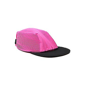 Homme Plissé By Issey Miyake Hp09aa50322 Men's Black/pink Fabric Hat