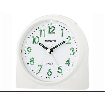 Acctim Sweeper One Alarm Clock White 14702