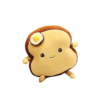 Cute bread plush doll, soft plush pillow cotton stuffed animal
