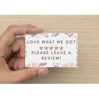Please Leave A Review Cards