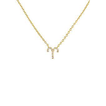 Diamond Pendant Necklace Diamond Gemstone Aries Zodiac Horoscope March April