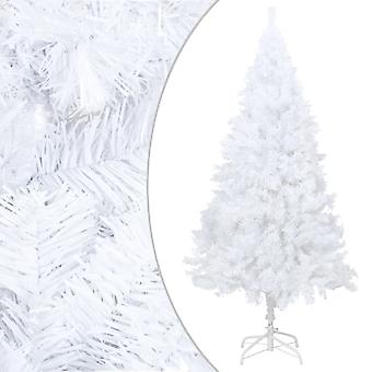 vidaXL Artificial Christmas tree with thick branches White 240 cm PVC