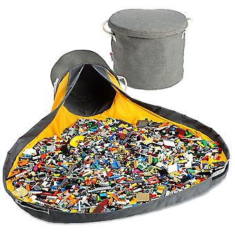 Kids toy portable bucket play storage drawstring organizer mat