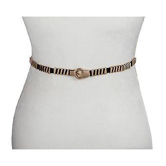 Gold Diagonal Stretch Belt