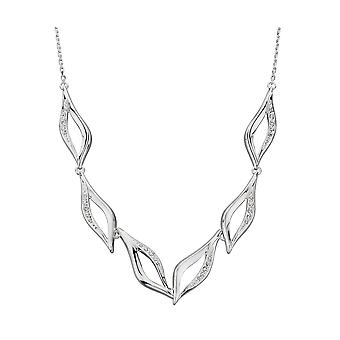 Elements Silver Womens 925 Sterling Silver Marquise Cubic Zirconia Necklace of Length 46cm N4198C