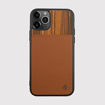 Eco Leather Genuine Wood Brown iPhone 11 Pro Case