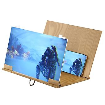 Universal Foldable Portable Wood Eyeshield 3D Video Mobile Phone Screen Magnifier Bracket Enlarge with Holder & Light Shield