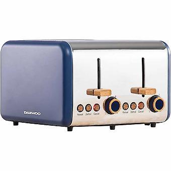 Daewoo Blue Skandia 4 Slice Toaster