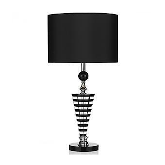 Hudson schwarz und Kristall Tischlampe 1 Glühbirne