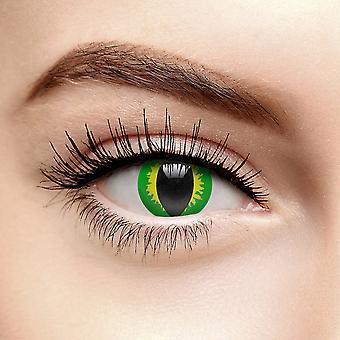 Green Lizard Eye Coloured Contact Lenses (Daily)