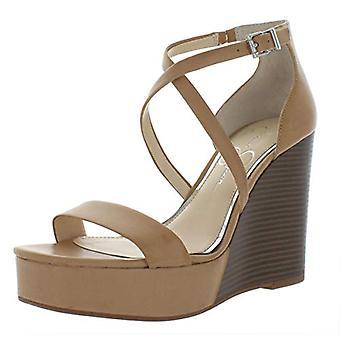 Jessica Simpson Womens Samira2 Fabric Open Toe Special Occasion Platform Sand...