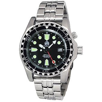 Tauchmeister T0284M automatic diving watch with steel band 1000 m