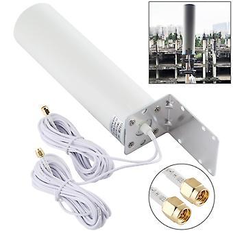 4G LTE WiFi 12DBi Omni External Barrel Antenna avec SMA Male (Blanc)