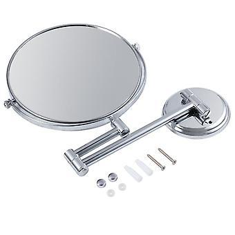 forstørrelse veggfeste dobbel side makeup speil