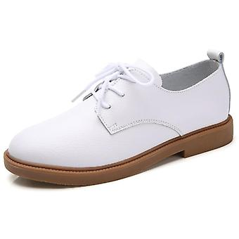 Women Genuine Leather Lace Up Shoes