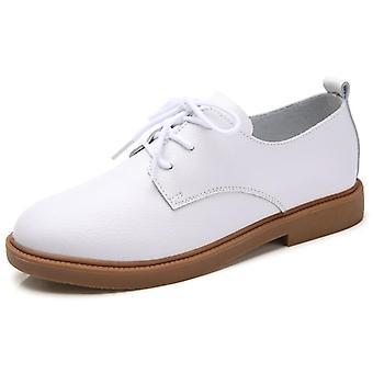נשים עור אמיתי שרוכים נעליים