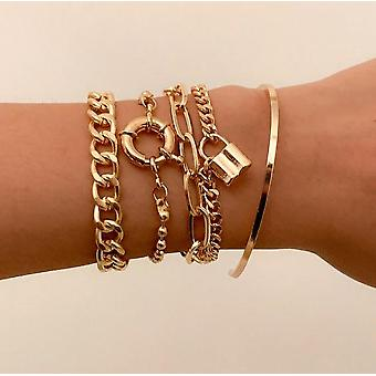 Hip Hop Chunky Thick Miami Curb Cuban Punk Metal Twisted Rope Chain Bracelet