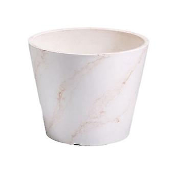 25Cm Red And White Marble Pot