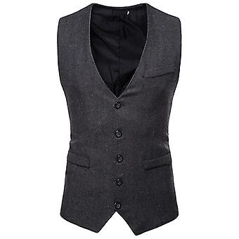 Formal Business Casual Slim Fit Vests Retro British Style Gentleman Vest