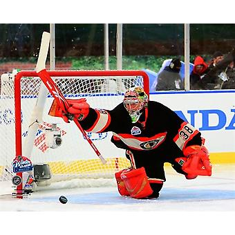 Cristobal Huet 2008-09 NHL Winter Classic Action Photo Print