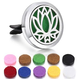 Car Perfume Diffuser Clip, Stainless Steel,  Locket Pendant, Aromatherapy