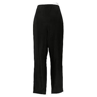 Susan Graver Women's Petite Pants Essentials Lustra Knit Black A240112