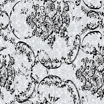 Getrommelte Muster Multicolor gedruckt Teppich aus Polyester, Baumwolle, L100xP200 cm