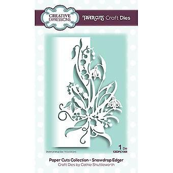 Creative Expressions Paper Cuts Collection Cutting Dies - Snowdrop Edger