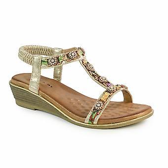 Sandale de coin jewelled de Bali lunaire