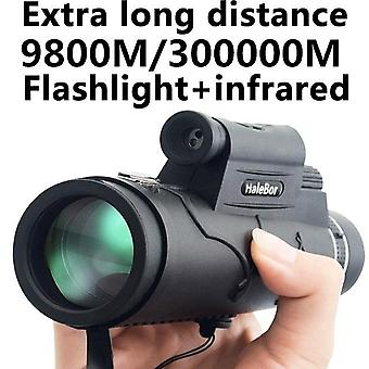 Extra dlouhý 9800m/300000m kompas svítilna úhel monokulární dalekohled laser venkovní turistika cestování přenosný dalekohled móda acc