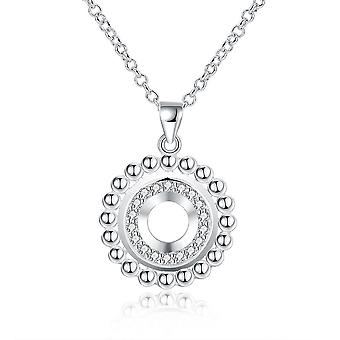 Lillian Diamond Cut Necklace In 18k White Gold Plated
