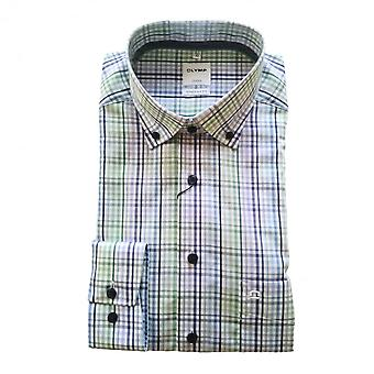 OLYMP Olymp Blue And Green Shirt 1114 74