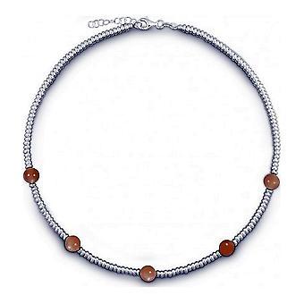 QUINN - Halskette - Damen - Silber 925 - Edelstein - Mondstein - 27169349