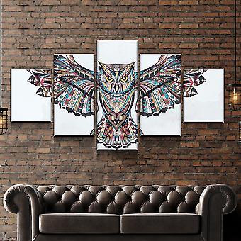 Kotoperäinen intialainen pöllökangassarja