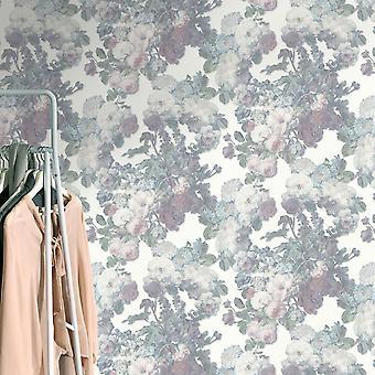 Elle Decoration Floral Baroque Wallpaper Pink Green 1015301