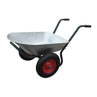 Gardening appliance two-wheeled wheelbarrow 66 L