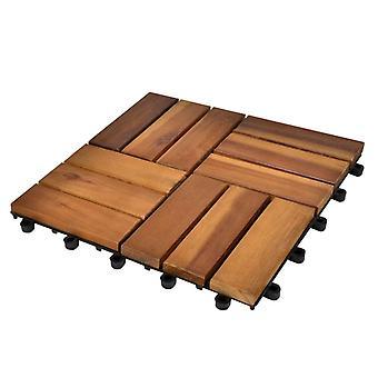 10 × بلاط مصنوع من خشب السنط 30 × 30 سم