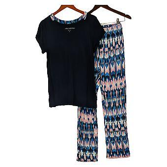 Carole Hochman Women's Pajama Set Short Sleeve Jersey Blue A373456